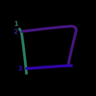 stroke order diagram of kanji '口'
